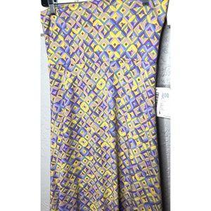 LuLaRoe purple and yellow print maxi skirt XS